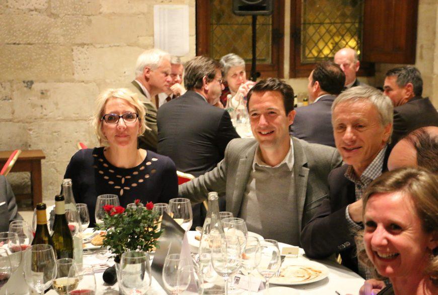 Dîner du 28 avril 2016 <br>au Palais Jacques Cœur de Bourges <br>avec Jean-Christophe Ruffin